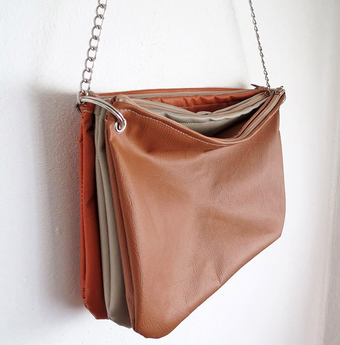 how to sew a fake leather purse