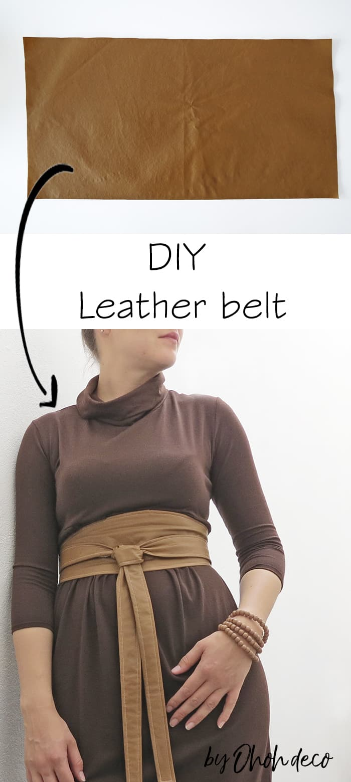 DIY leather belt