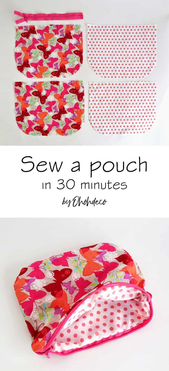 sew a pouch in 30 minutes