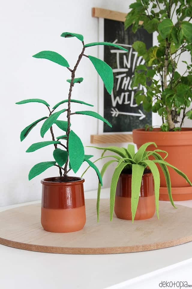 Easy DIY felt plants