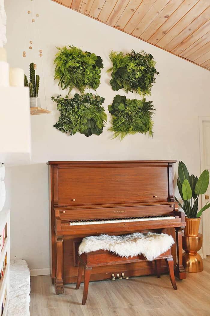 diy wall plant frame