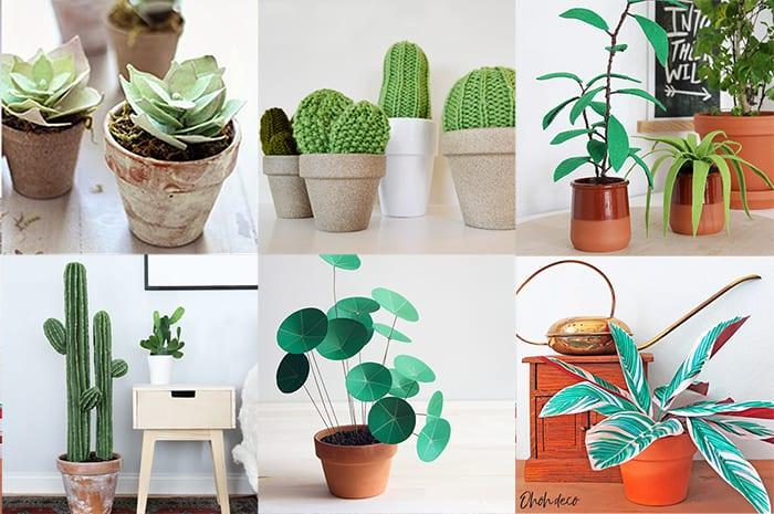 DIY fake plants