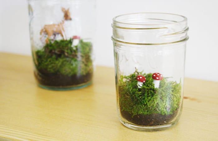 Faux terrarium DIY