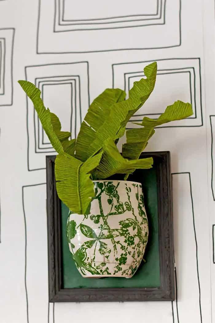 paper tropical leaf DIY