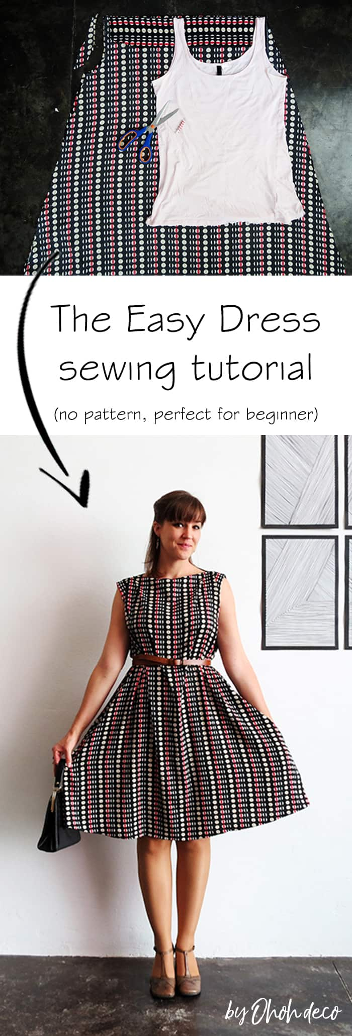 the easy dress sewing tutorial