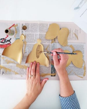 How to make paper Christmas angels