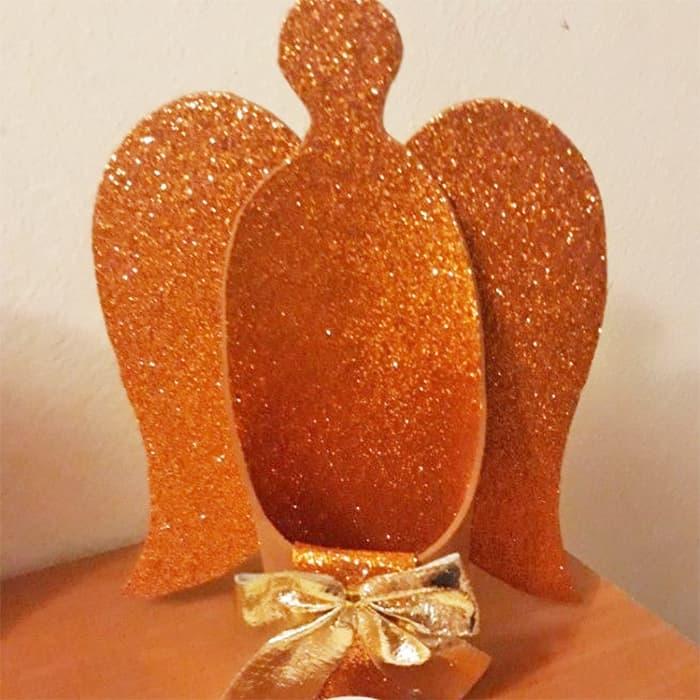 glitter angel votive diy