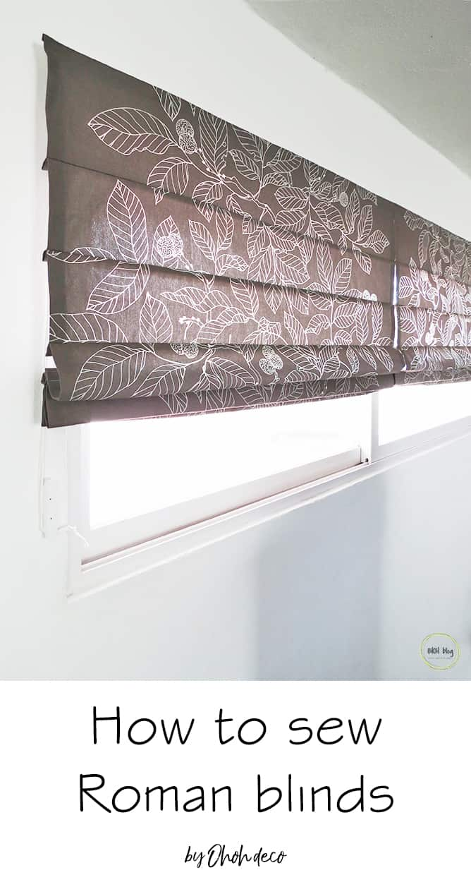 Roman blinds sewing tutorial