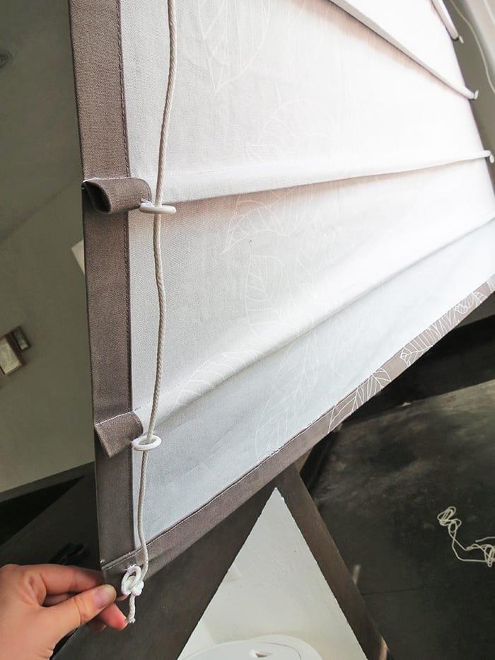 back of roman blinds