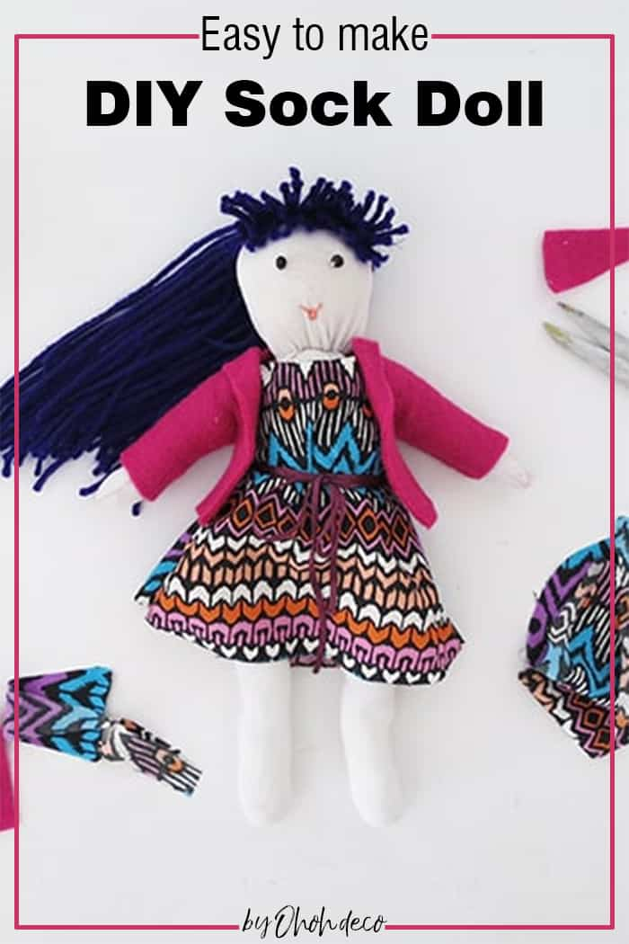 Easy to make DIY sock doll
