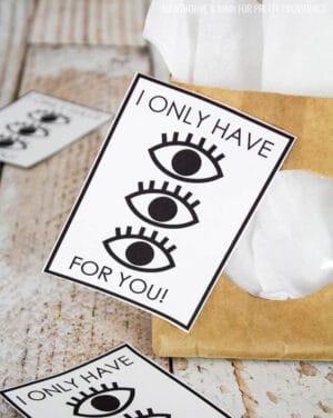 eye valentine's card