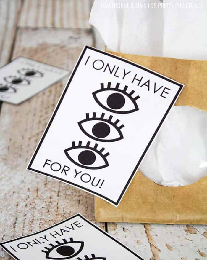 eye valentine's card