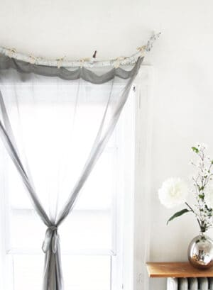 How to make DIY Curtain Rods