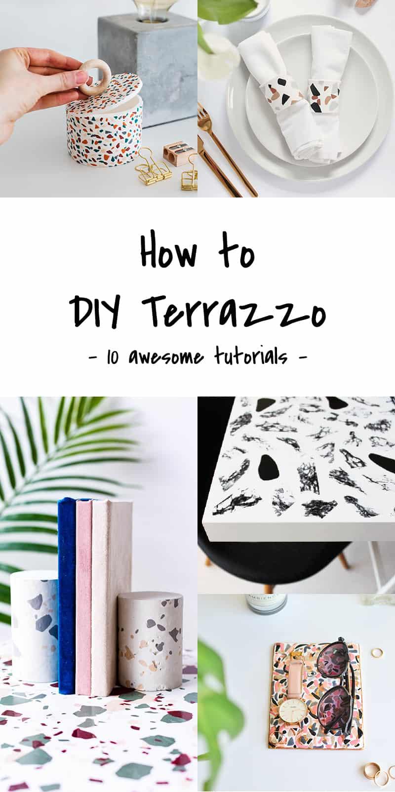How To Diy Terrazzo Ohoh Blog