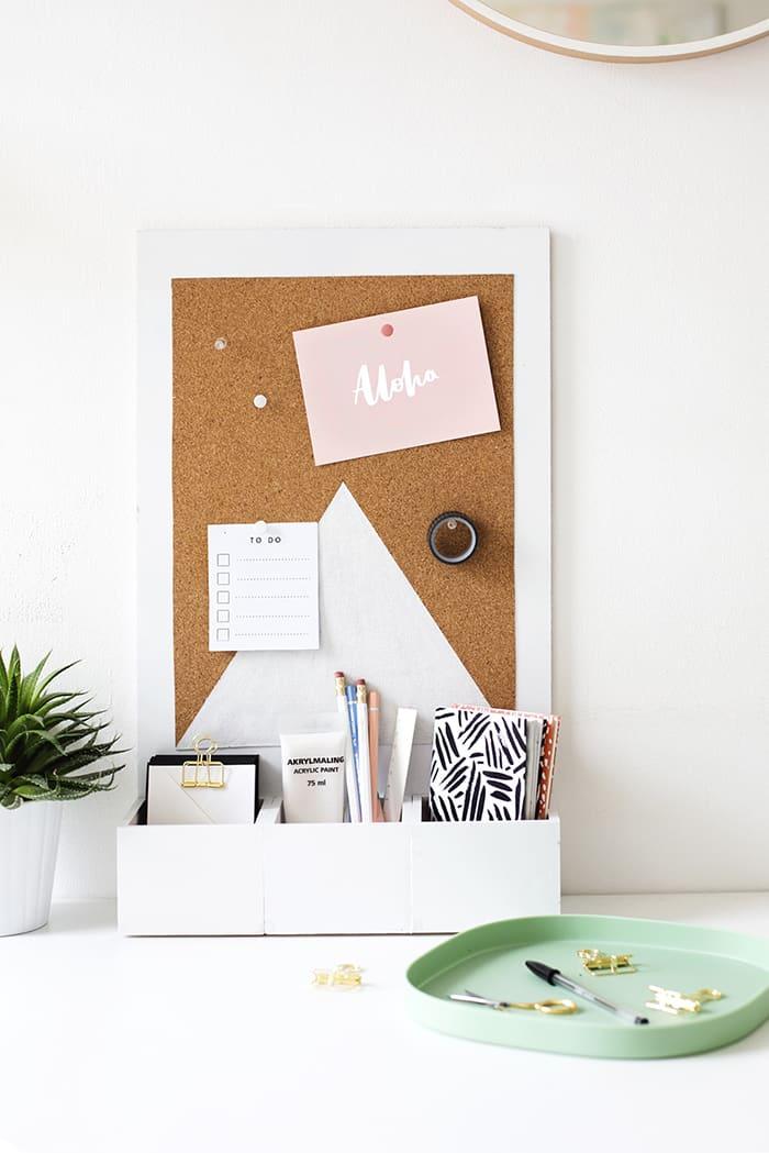 diy desk organizer