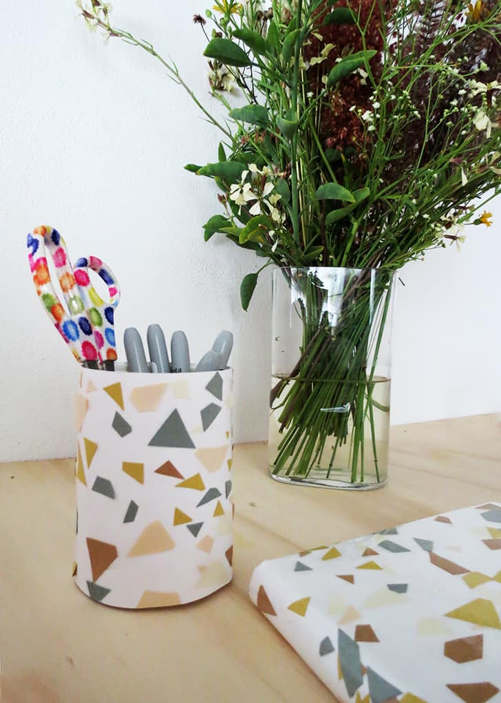 How to make terrazzo paper