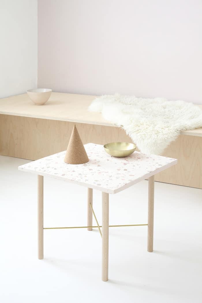 diy terrazzo side table