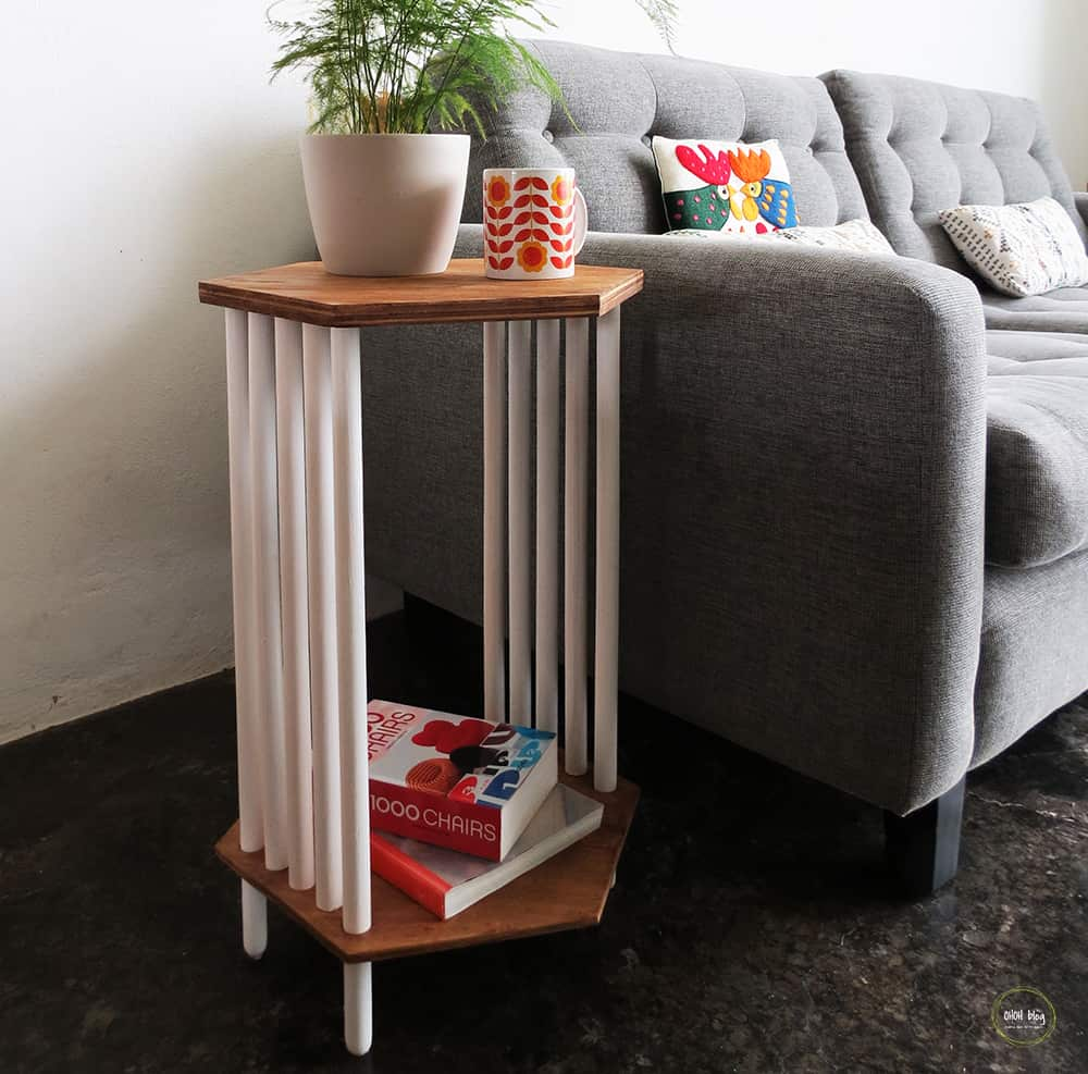 How to make a mid-century inspired side table
