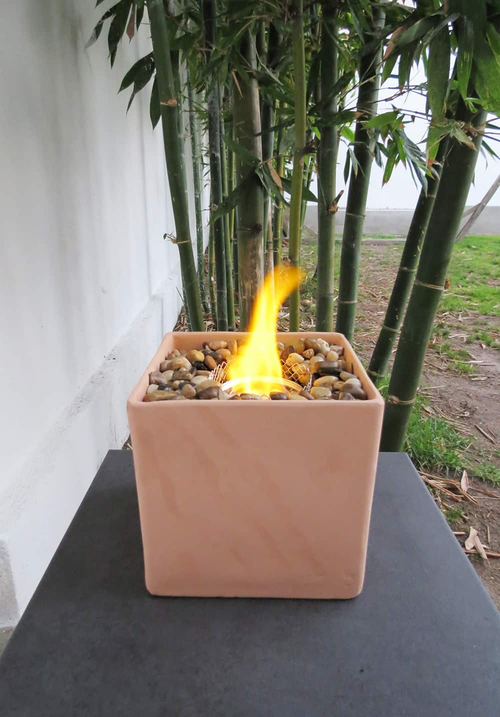 The easy way to make a table fire pit ohoh blog for Easy way to build a fire pit