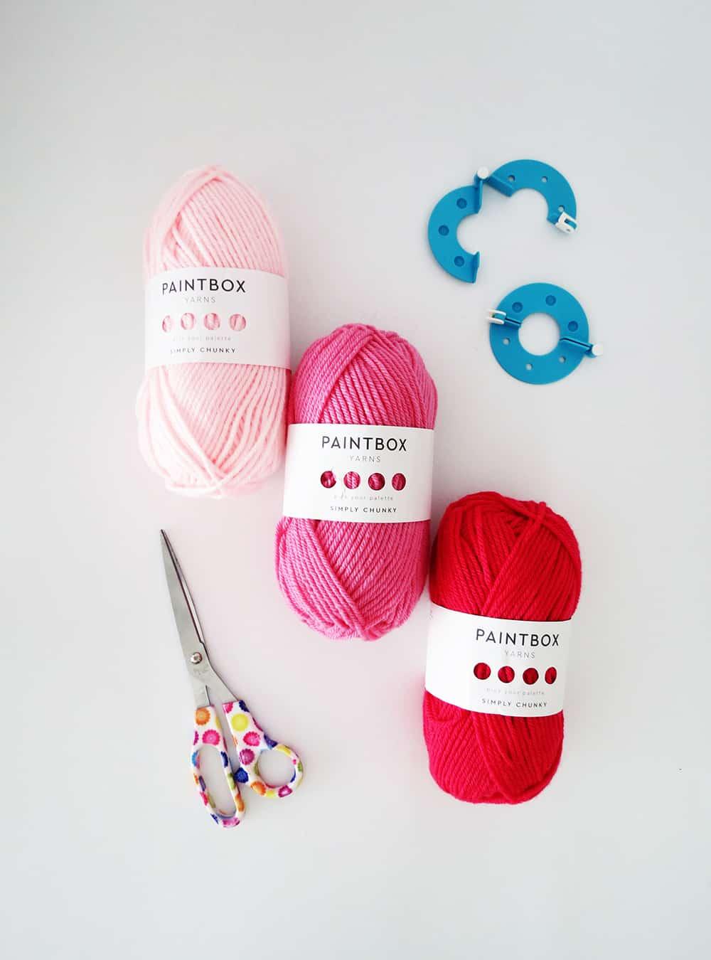 yarn to make pom poms