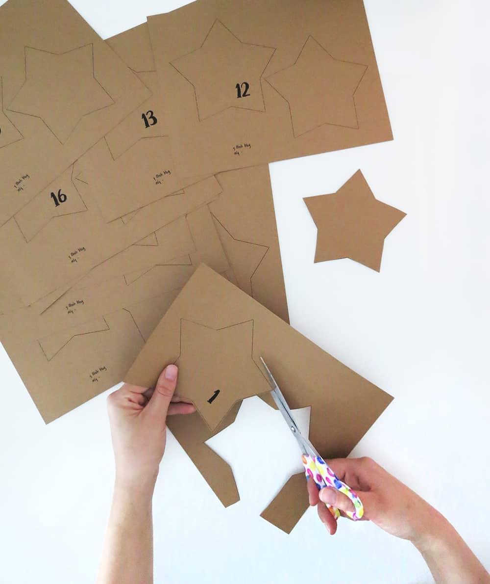 DIY Paper Star Advent Calendar