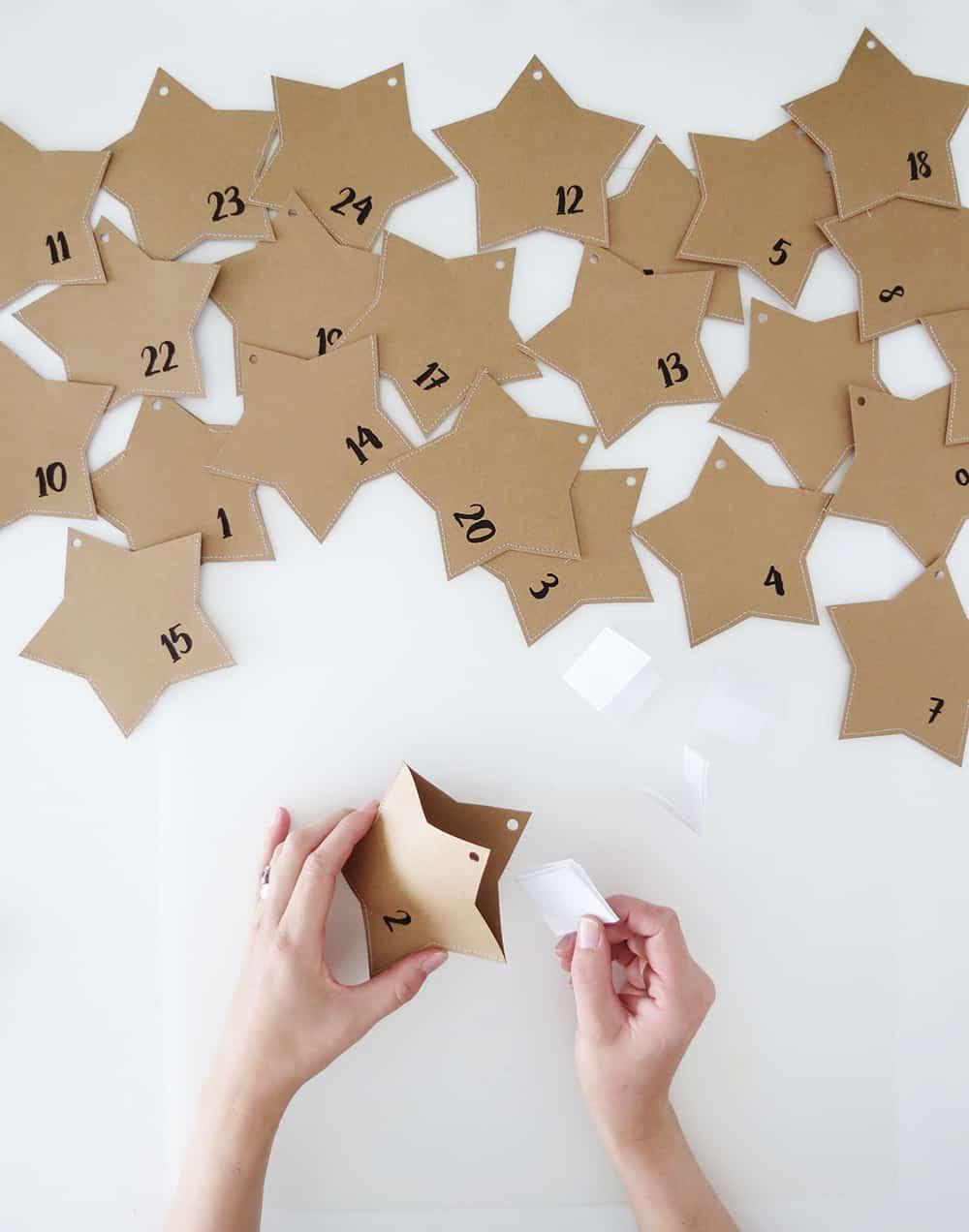how to make a paper advent calendar