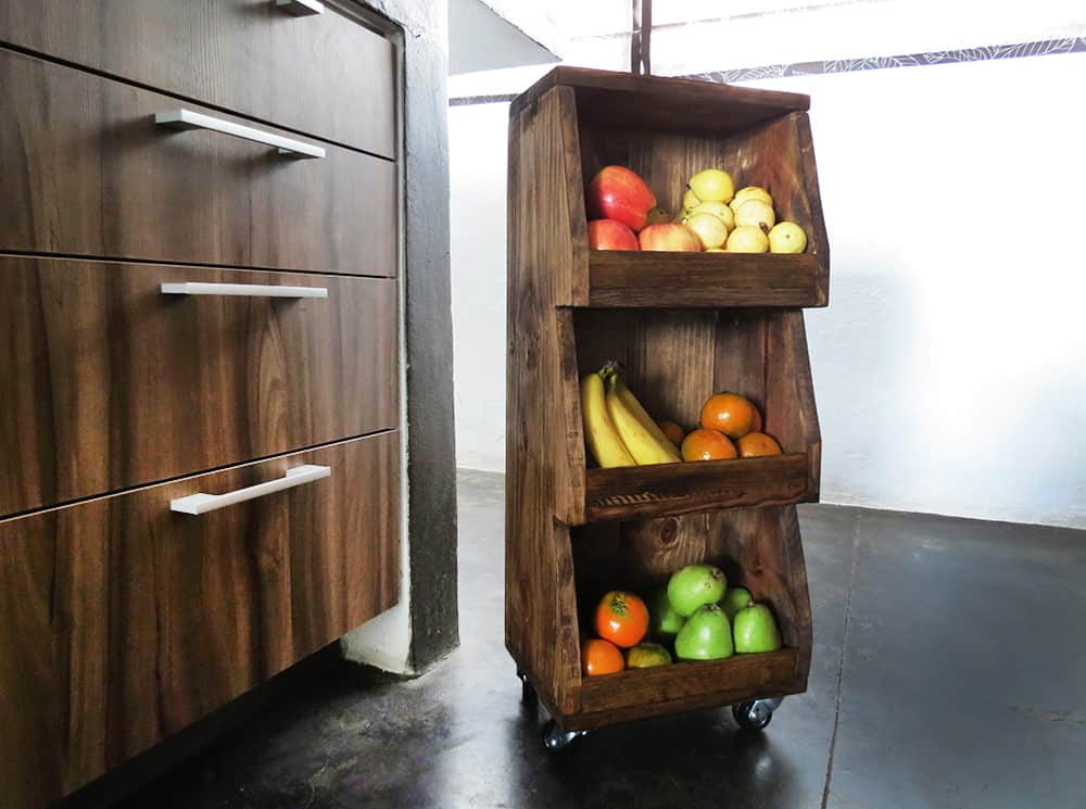 A rolling cart to store your fruits and vegetables