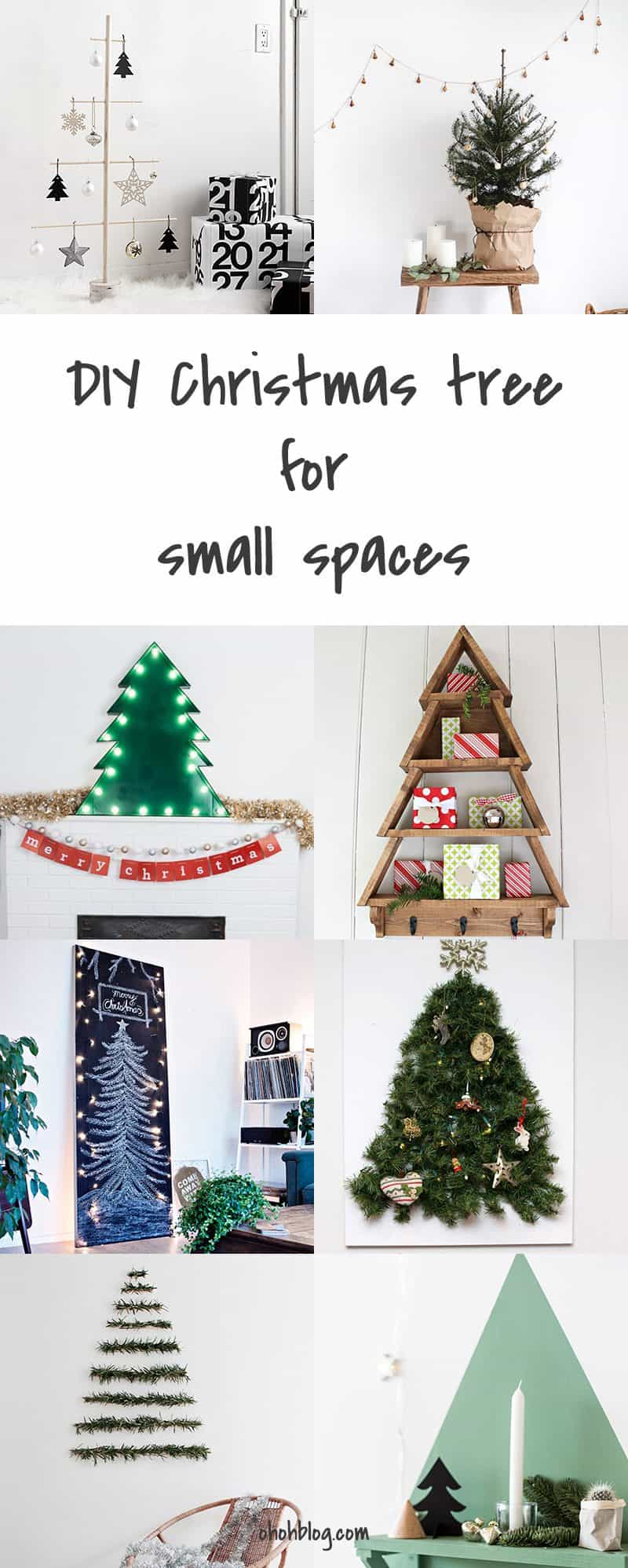 Diy christmas tree for small spaces ohoh blog - Diy for small spaces decor ...