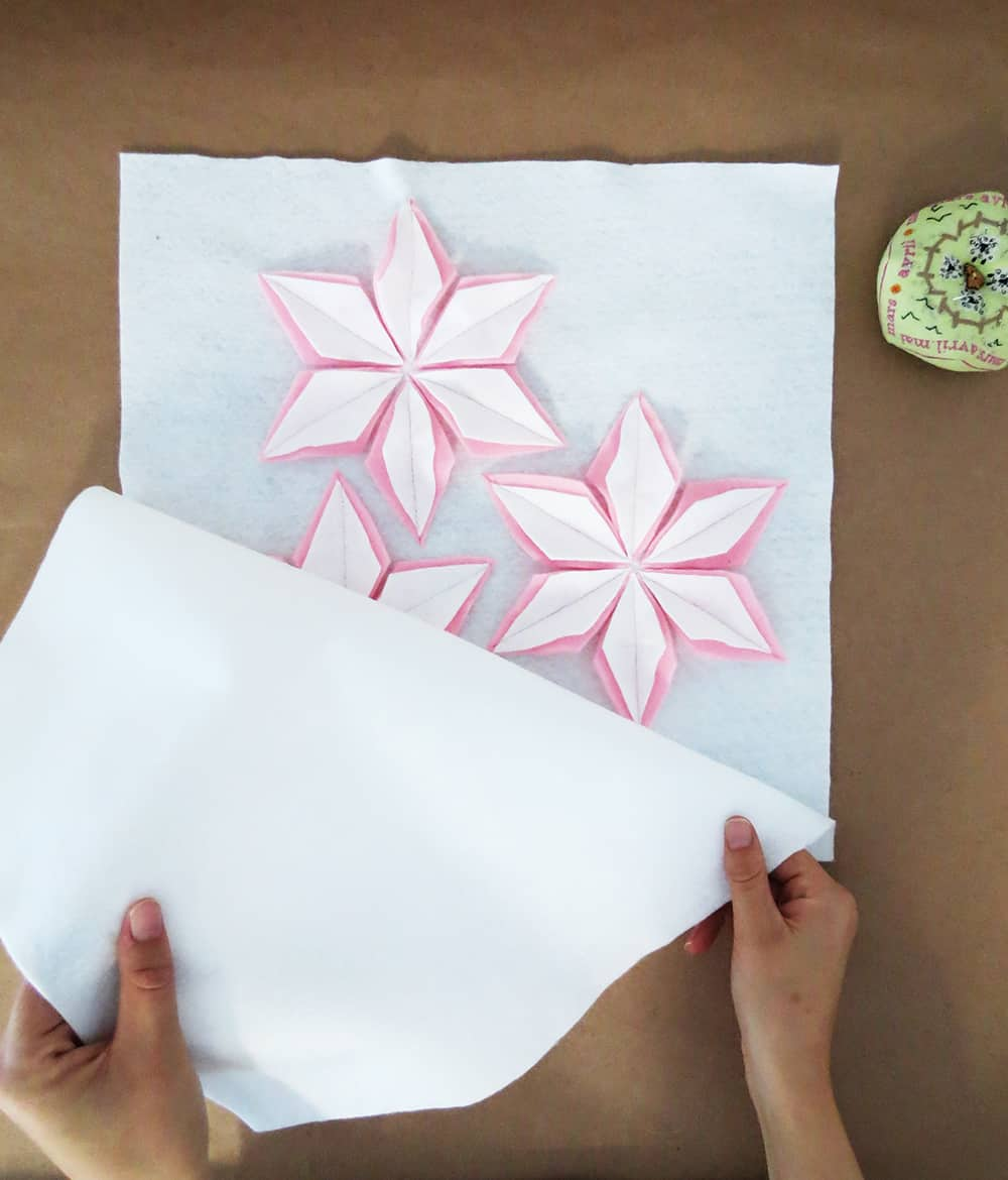 How to sew a felt christmas cushion - sewing pillow cover