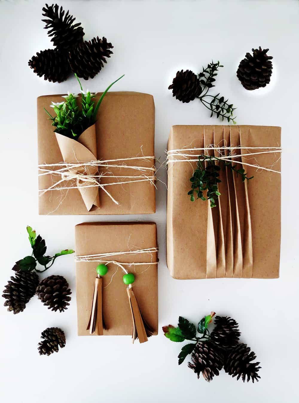 3 easy ways to wrap presents with brown paper