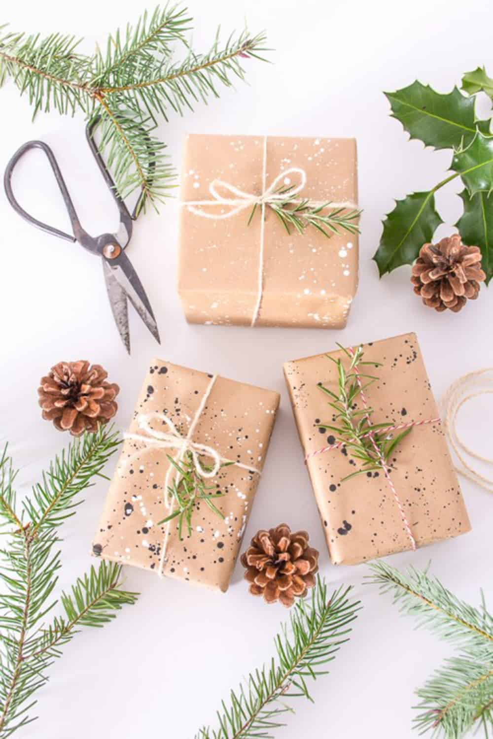 10+ DIY to wrap gifts with craft paper