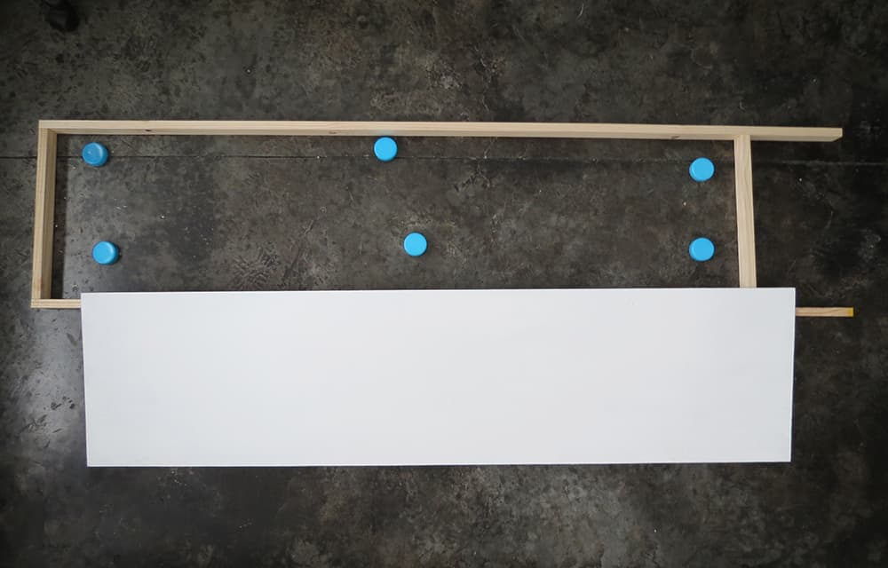 placing the panel into frame