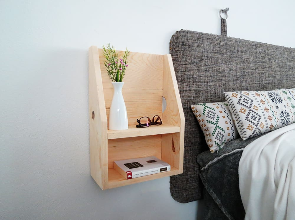 How to build a floating nightstand