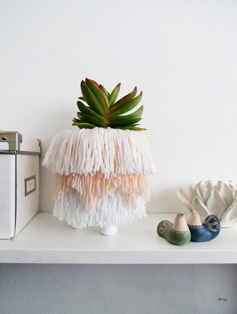 How to make a fringed planter