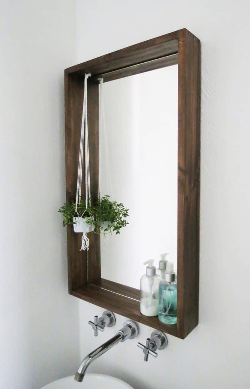 DIY box frame mirror