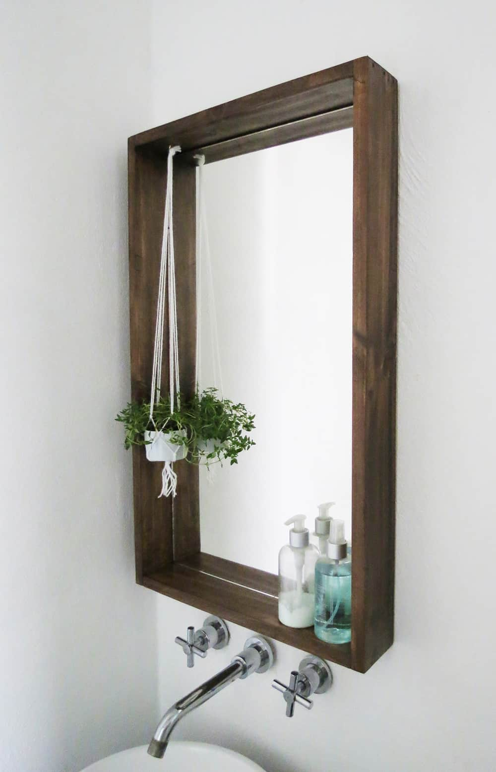 DIY box frame mirror