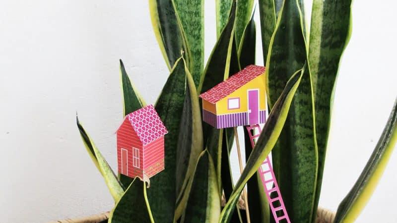 DIY Mini houses for planter