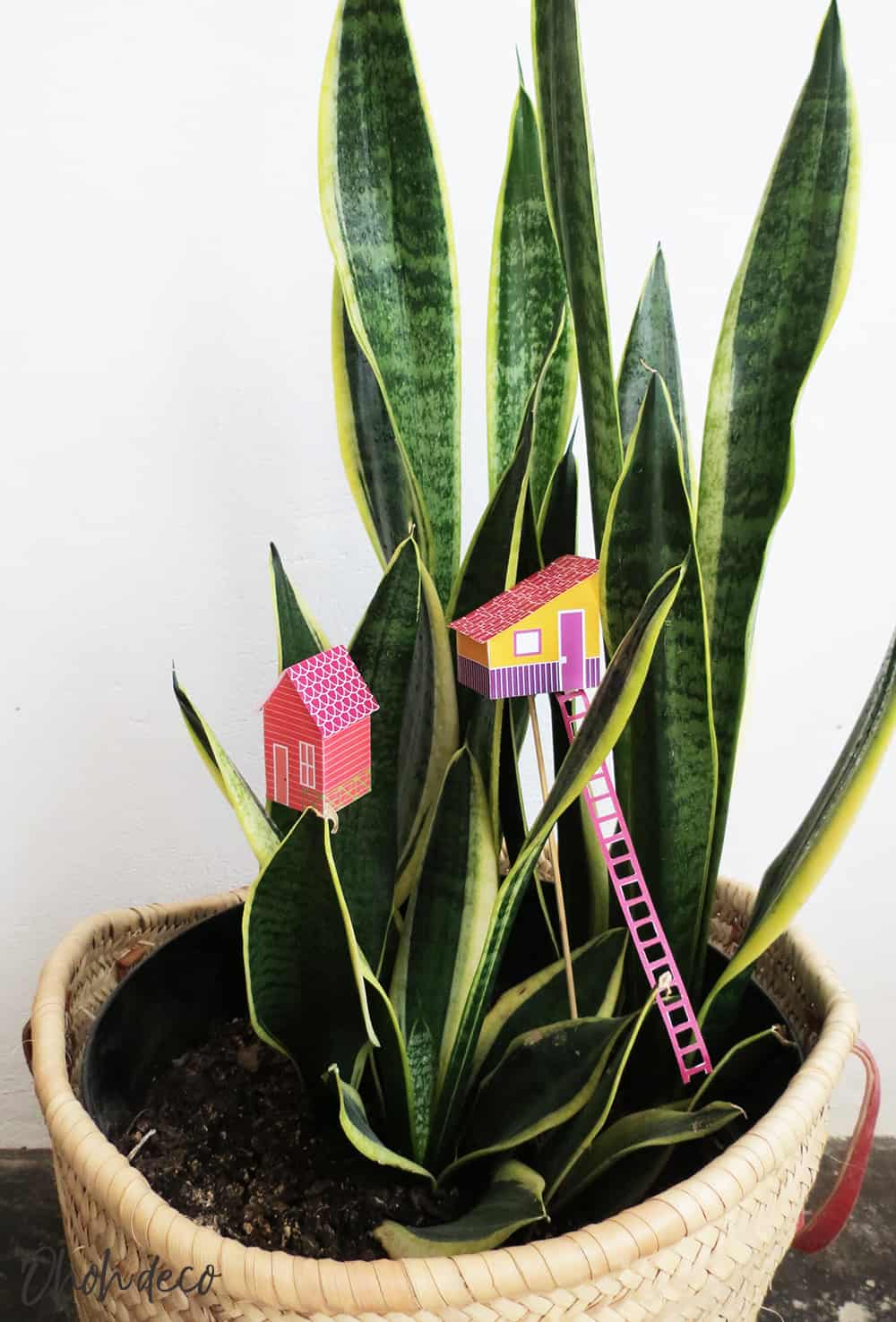 DIY Mini houses for planter
