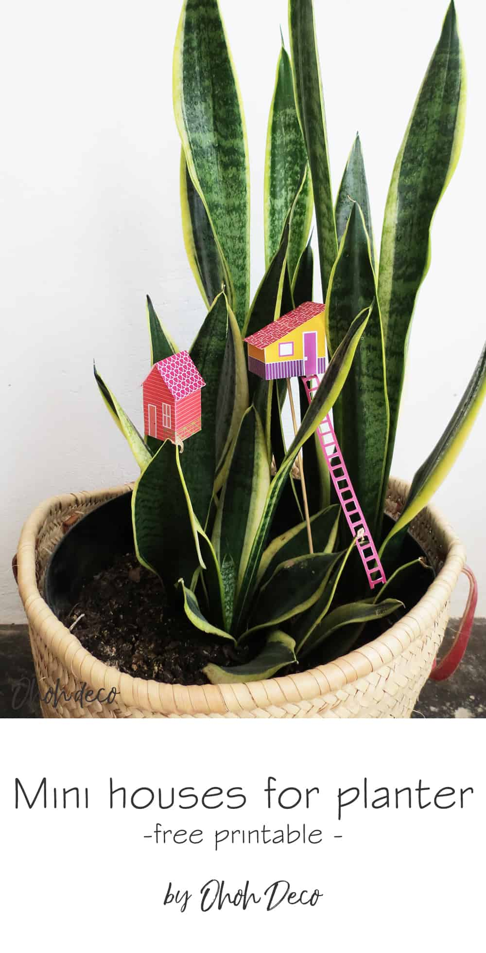 free house printable to decorate your planters