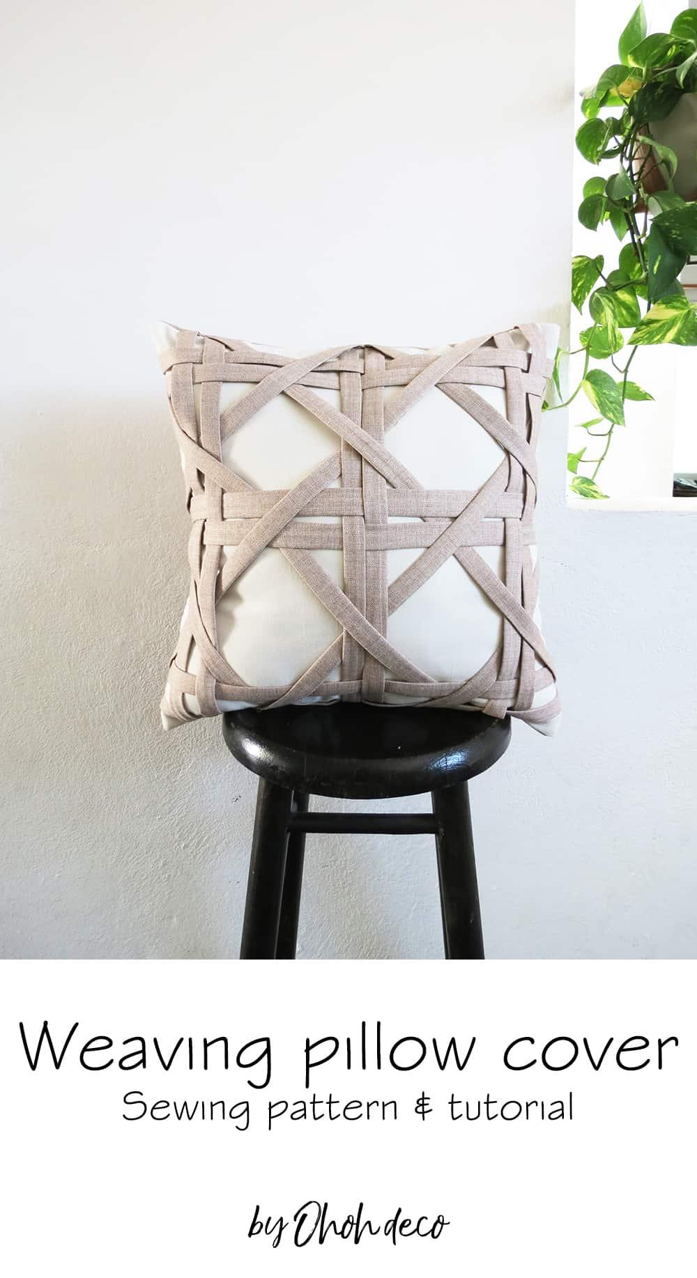 weaving pillow cover tutorial