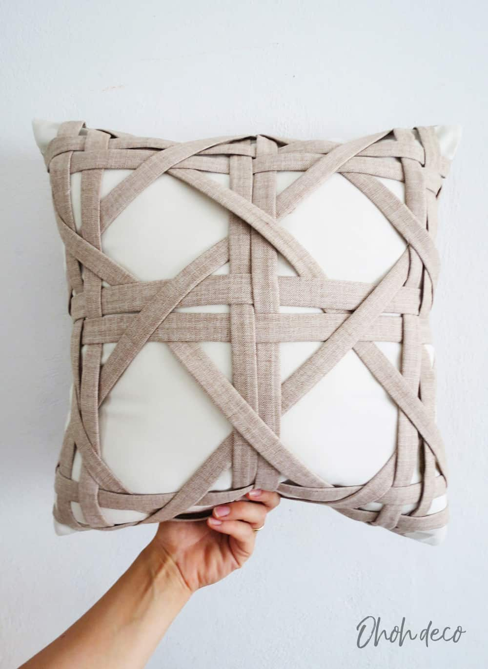 Sewing a weaving pillow cover - Ohoh Blog