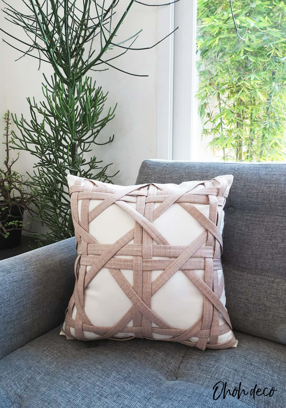 weave pillow cover