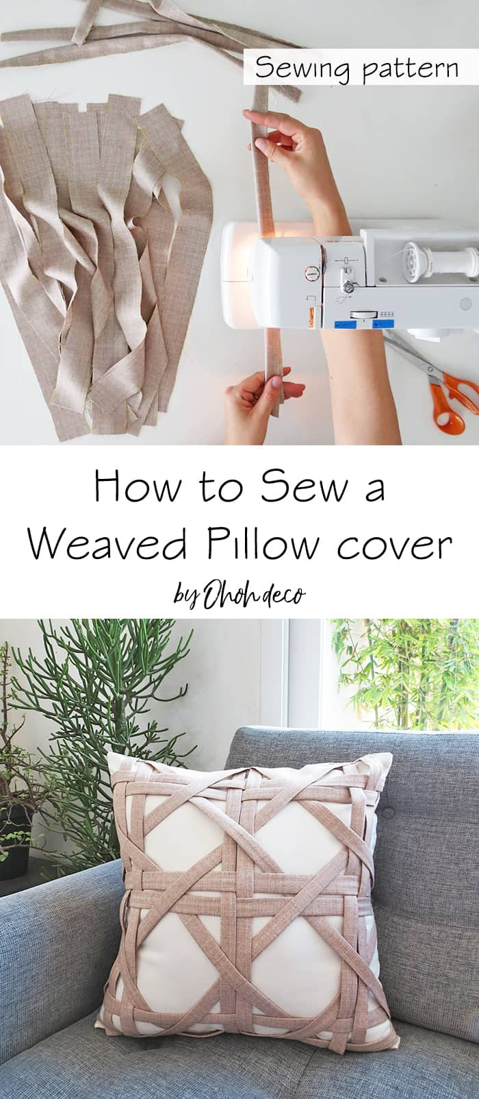 sew weaved pillow cover