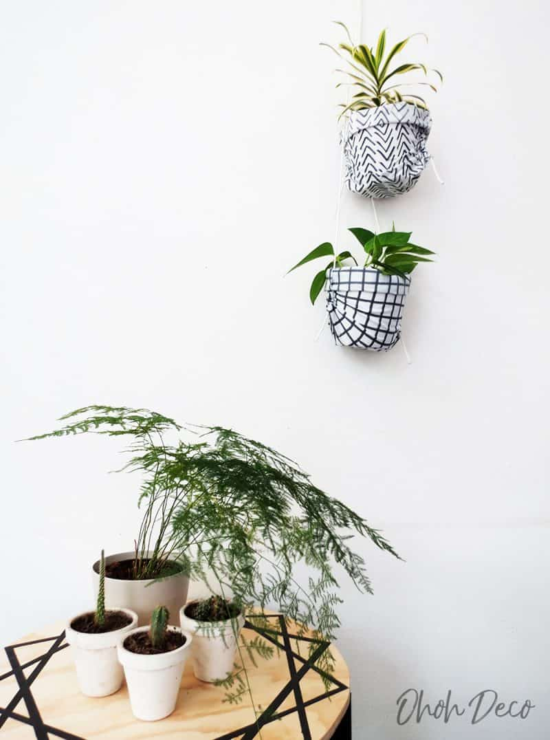 How to sew a DIY plant hanger