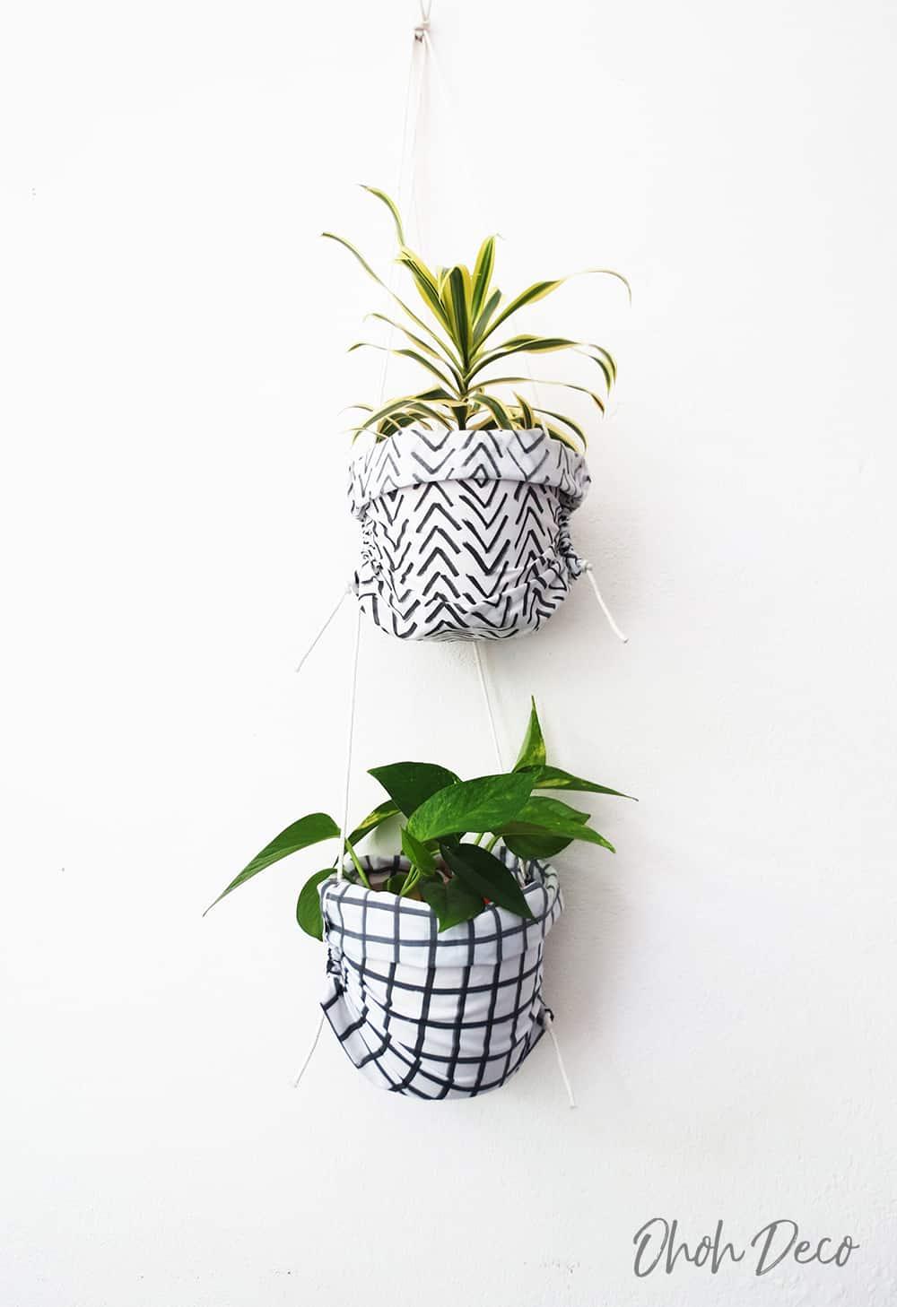 diy hanged planters