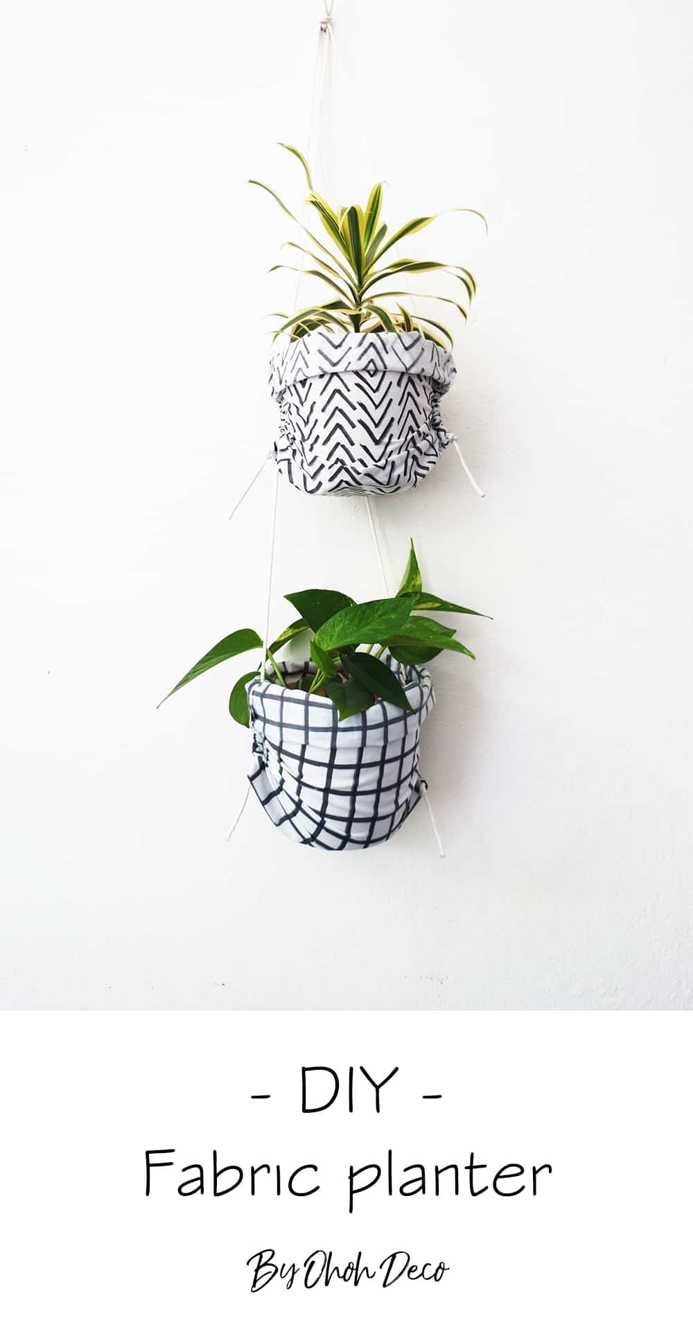 How to sew hanging planters