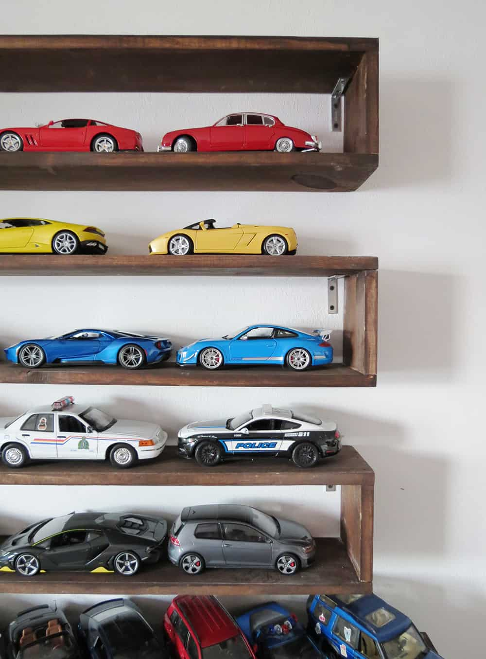diy boxed shelves