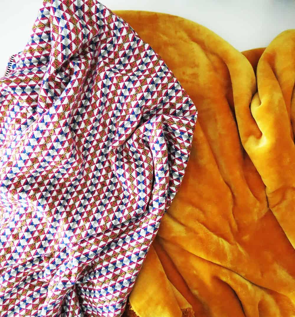 fabric to sew throw