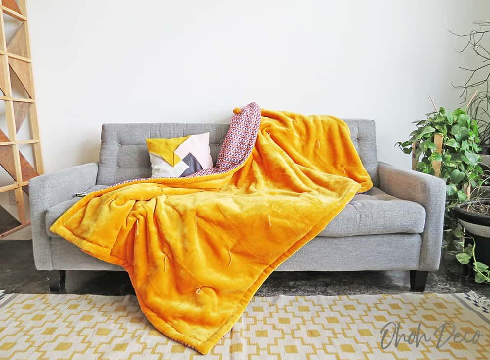 fleece fabric blanket
