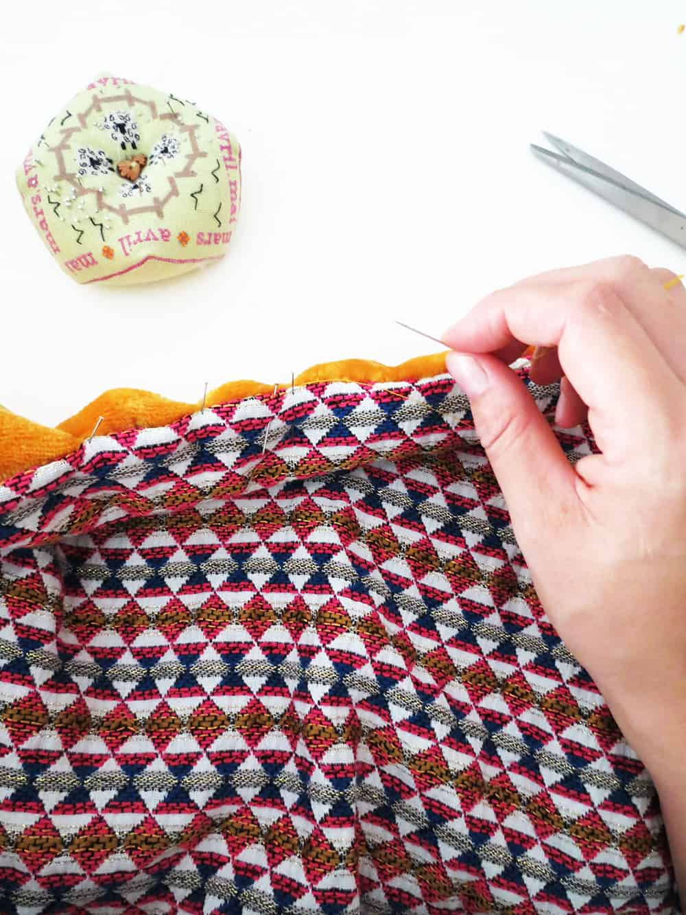 sewing throw